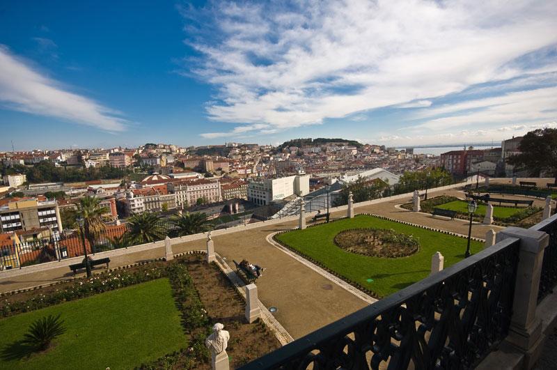 São Pedro de Alcântara Viewpoint near Bairro Alto, in Lisbon