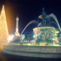 Lisbon's Rossio square during Christmas time