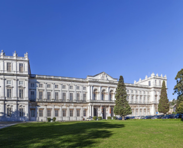 Ajuda National Palace Neoclassical building in Lisbon